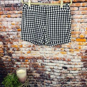 J Crew Gingham Pattern Shorts